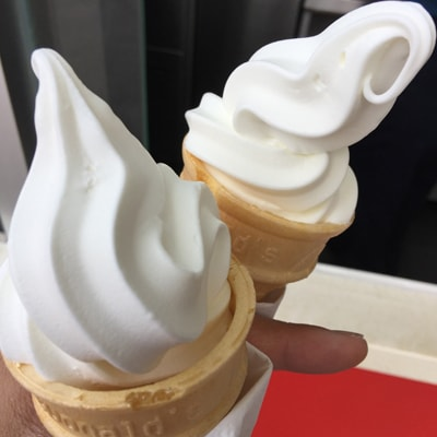 膝痛を助長しかねないアイスクリーム