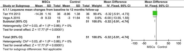 Lequesneスコアに見る変形性膝関節症の改善効果