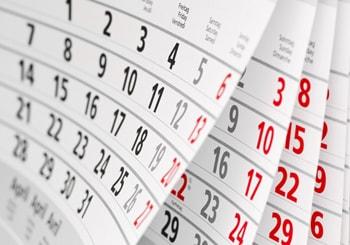 数カ月のカレンダー